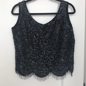 Tops - Vintage Sequin Fringe Top